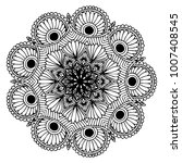 mandalas for coloring book.... | Shutterstock .eps vector #1007408545