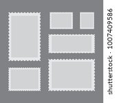 templates of postage stamps.... | Shutterstock .eps vector #1007409586