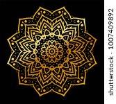 gold vector mandala | Shutterstock .eps vector #1007409892