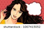 happy woman. vector illustration | Shutterstock .eps vector #1007415052