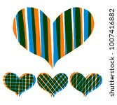 abstract hearts paint stripe... | Shutterstock .eps vector #1007416882
