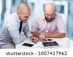 happy business colleagues | Shutterstock . vector #1007417962