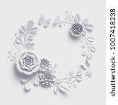 3d rendering  white paper... | Shutterstock . vector #1007418238