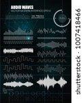 set sound waves. audio... | Shutterstock .eps vector #1007418466
