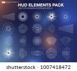 set audio equalizer technology  ... | Shutterstock .eps vector #1007418472