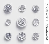 3d rendering  white paper...   Shutterstock . vector #1007418772