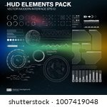 hud elements pack. vector...