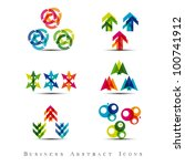 business abstract icons set