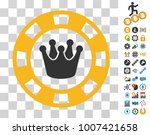 royal casino chip icon with...