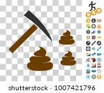 shit mining pictograph with... | Shutterstock .eps vector #1007421796