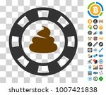 shit casino chip icon with...