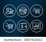 set of dollar wallet  business... | Shutterstock .eps vector #1007422012