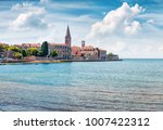 amazing spring view of old... | Shutterstock . vector #1007422312