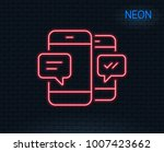 neon light. phone message line... | Shutterstock .eps vector #1007423662