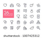 valentine day set icons. vector ... | Shutterstock .eps vector #1007425312