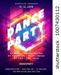 dance party poster vector... | Shutterstock .eps vector #1007430112