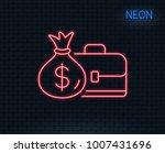 neon light. business case line... | Shutterstock .eps vector #1007431696