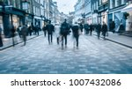shopping high street scene with ... | Shutterstock . vector #1007432086