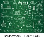 physical formulas and... | Shutterstock .eps vector #100743538