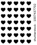 hearts designs for valentine's... | Shutterstock .eps vector #1007437702