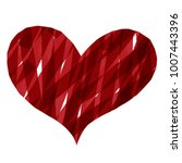 abstract heart paint stripe... | Shutterstock .eps vector #1007443396
