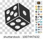 dice icon with bonus bitcoin...