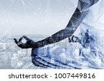 woman and cyber sity | Shutterstock . vector #1007449816
