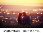 lovers man and girl against... | Shutterstock . vector #1007454748