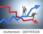 businessman with charts of... | Shutterstock . vector #1007455228