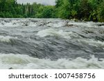 mountain river with green... | Shutterstock . vector #1007458756