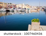 marina grande with boats and... | Shutterstock . vector #1007460436