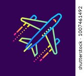 outline icon airplane. hotel... | Shutterstock .eps vector #1007461492