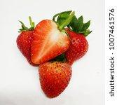 fresh strawberry fruit ... | Shutterstock . vector #1007461576