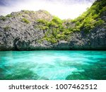 beautiful turquoise sea water... | Shutterstock . vector #1007462512