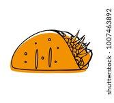 isolated burrito design | Shutterstock .eps vector #1007463892