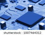 electronic circuit board close... | Shutterstock . vector #1007464312