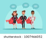 business people working in... | Shutterstock .eps vector #1007466052