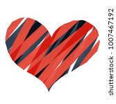abstract heart red stripe... | Shutterstock .eps vector #1007467192