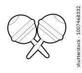 isolated maracas design | Shutterstock .eps vector #1007468332