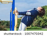 physical education in... | Shutterstock . vector #1007470342