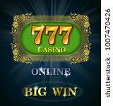 online casino calligraphic  big ... | Shutterstock .eps vector #1007470426