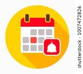 calendar with bell icon vector  ...   Shutterstock .eps vector #1007472826