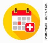 add calendar icon vector ... | Shutterstock .eps vector #1007475136