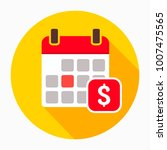 dollar calendar day icon vector ... | Shutterstock .eps vector #1007475565