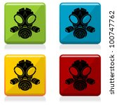 gas mask sign buttons with four ... | Shutterstock .eps vector #100747762