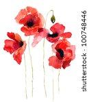 Stylized Poppy Flowers...