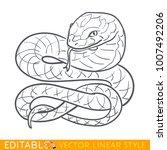 snake zodiac sign. serpent...   Shutterstock .eps vector #1007492206