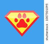 logo super hero dog | Shutterstock .eps vector #1007501095