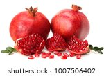 pomegranate isolated on white... | Shutterstock . vector #1007506402