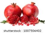 pomegranate isolated on white... | Shutterstock . vector #1007506402